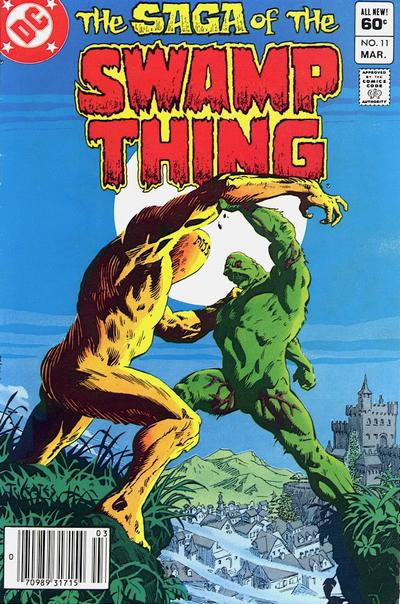 Cover for The Saga of Swamp Thing (DC, 1982 series) #11 [Direct-Sales]