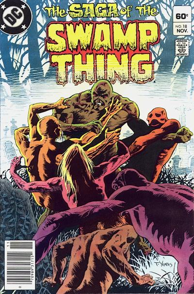 Cover for The Saga of Swamp Thing (DC, 1982 series) #18 [Direct]