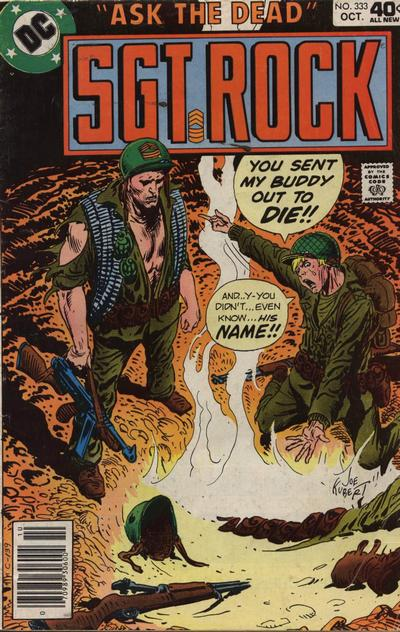 Cover for Sgt. Rock (DC, 1977 series) #333