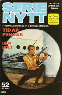 Cover Thumbnail for Serie-nytt [delas?] (Semic, 1970 series) #20/1979
