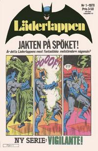 Cover Thumbnail for Läderlappen (Semic, 1976 series) #1/1978