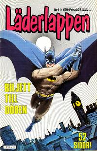 Cover for Läderlappen (1976 series) #11/1979