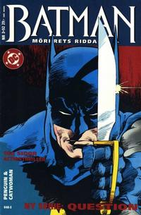 Cover Thumbnail for Batman - Mörkrets riddare (Epix, 1992 series) #3/92 [3/1992]