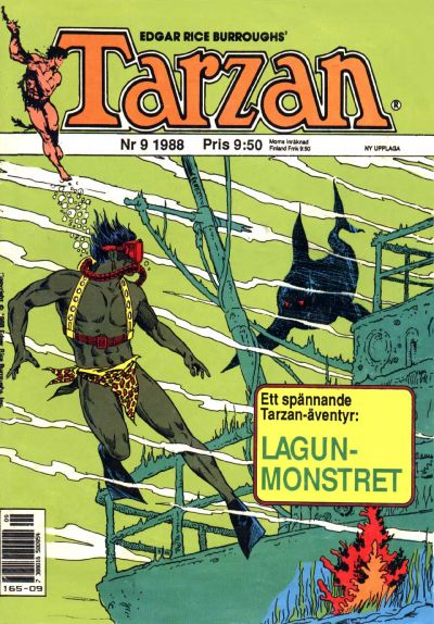 Cover for Tarzan (Atlantic Förlags AB, 1977 series) #9/1988
