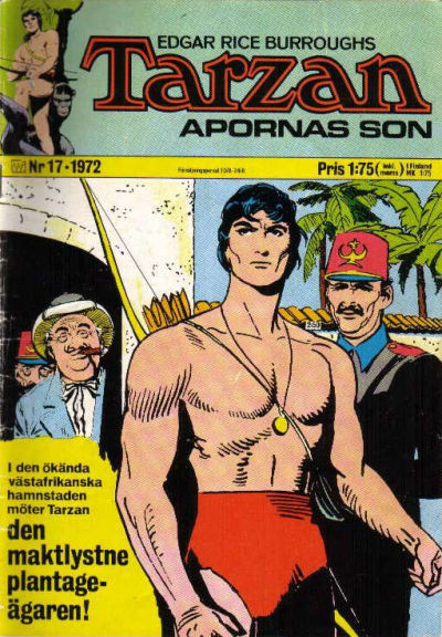 Cover for Tarzan (1966 series) #17/1972