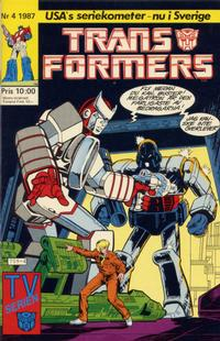 Cover Thumbnail for Transformers (Atlantic Förlags AB, 1987 series) #4/1987