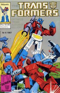 Cover Thumbnail for Transformers (Atlantic Förlags AB, 1987 series) #6/1987