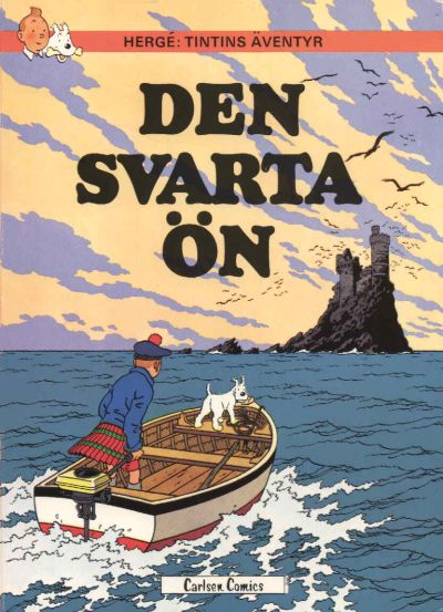 Cover for Tintins äventyr (Carlsen/if [SE], 1972 series) #15 - Den svarta ön