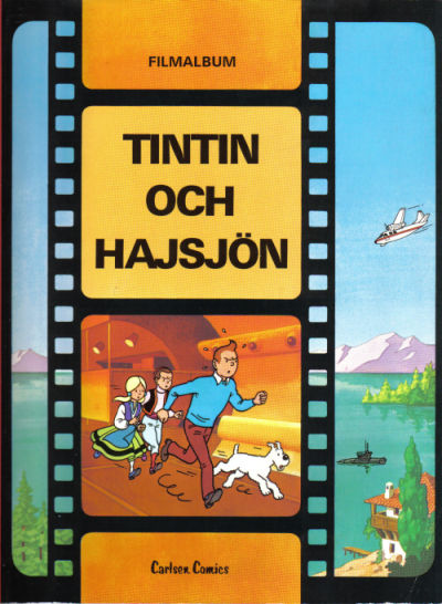 Cover for Tintins äventyr (Carlsen/if [SE], 1972 series) #20 - Tintin och hajsjön