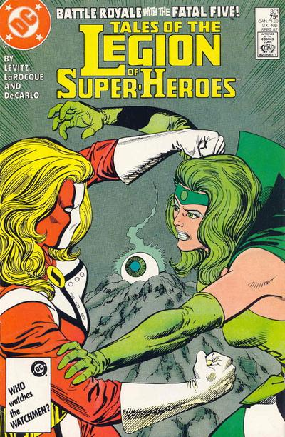 Cover for Tales of the Legion of Super-Heroes (1984 series) #351 [Newsstand Edition]