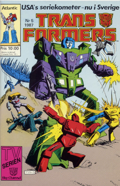 Cover for Transformers (Atlantic Förlags AB, 1987 series) #5/1987