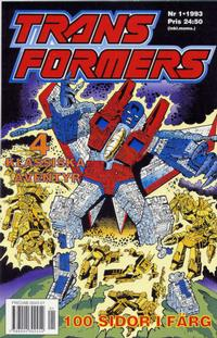 Cover Thumbnail for Transformers (Atlantic Förlags AB; Pandora Press, 1993 series) #1/1993