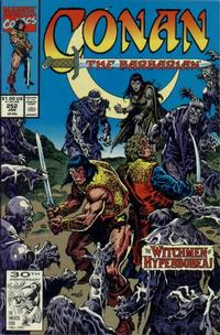 Cover for Conan the Barbarian (Marvel, 1970 series) #252 [Direct Edition]