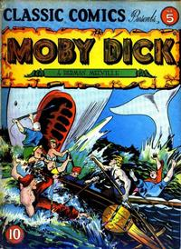 Cover Thumbnail for Classic Comics (Gilberton, 1941 series) #5 - Moby Dick