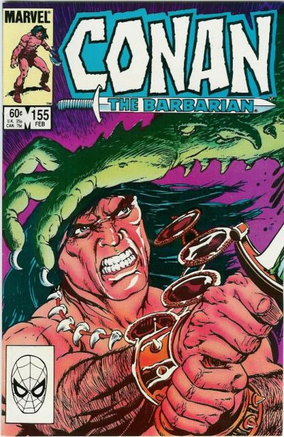 Cover for Conan the Barbarian (Marvel, 1970 series) #155 [Newsstand Edition]