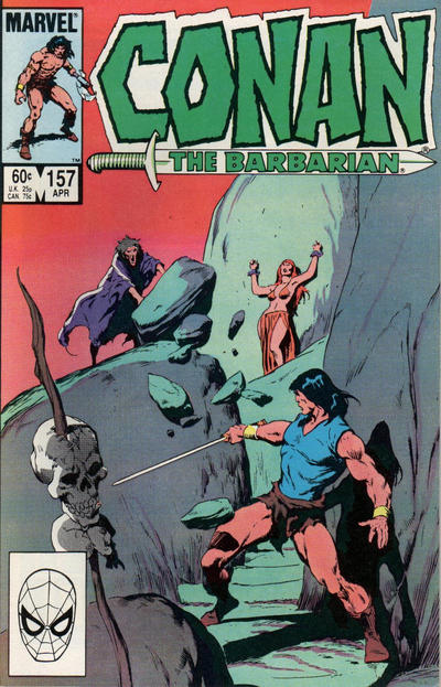 Cover for Conan the Barbarian (Marvel, 1970 series) #157 [Direct Edition]