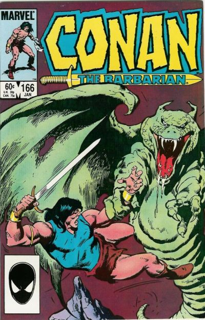 Cover for Conan the Barbarian (Marvel, 1970 series) #166 [Newsstand Edition]