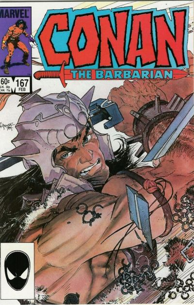 Cover for Conan the Barbarian (Marvel, 1970 series) #167