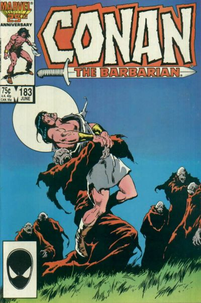 Cover for Conan the Barbarian (Marvel, 1970 series) #183 [Direct Edition]