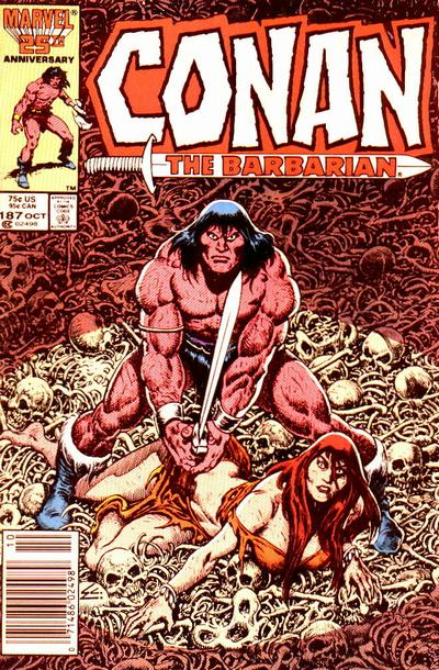 Cover for Conan the Barbarian (Marvel, 1970 series) #187