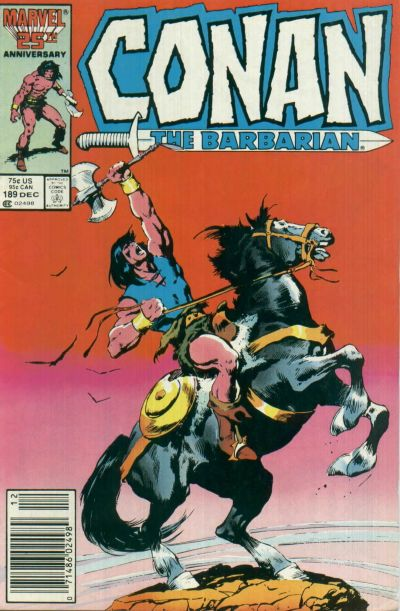 Cover for Conan the Barbarian (Marvel, 1970 series) #189 [Newsstand Edition]