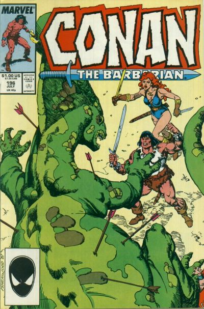 Cover for Conan the Barbarian (1970 series) #196