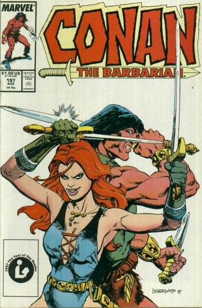 Cover for Conan the Barbarian (Marvel, 1970 series) #197 [Direct Edition]