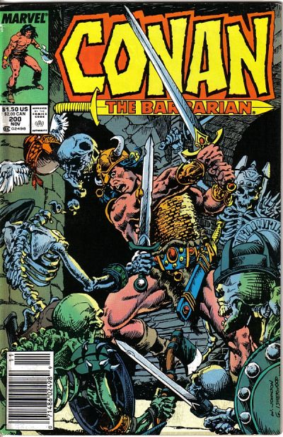 Cover for Conan the Barbarian (Marvel, 1970 series) #200 [Direct Edition]