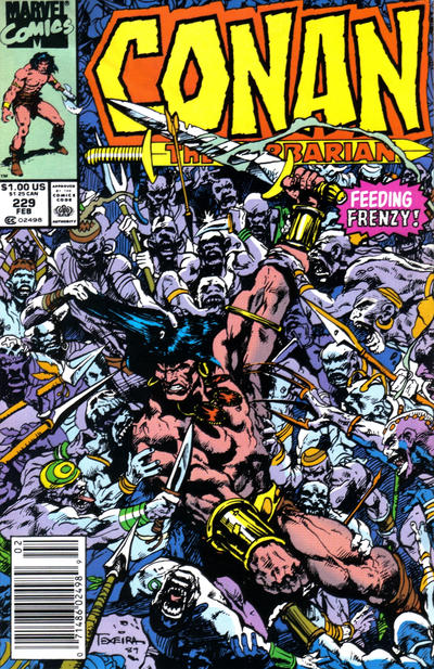 Cover for Conan the Barbarian (Marvel, 1970 series) #229 [Newsstand Edition]