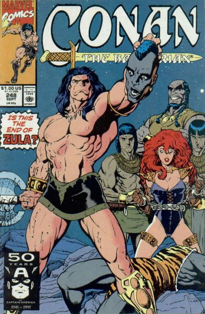 Cover for Conan the Barbarian (Marvel, 1970 series) #248 [Direct Edition]