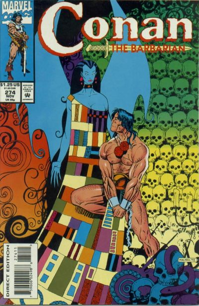 Cover for Conan the Barbarian (Marvel, 1970 series) #274 [Direct Edition]