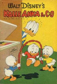Cover for Kalle Anka &amp; C:o (1948 series) #6/1953