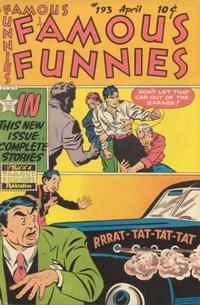 Cover Thumbnail for Famous Funnies (Eastern Color, 1934 series) #193