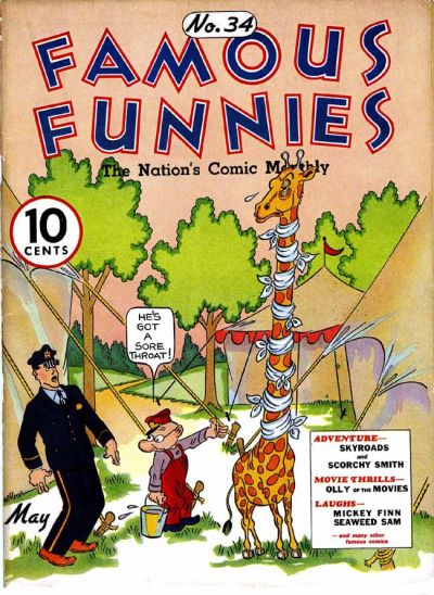 Cover for Famous Funnies (Eastern Color, 1934 series) #34