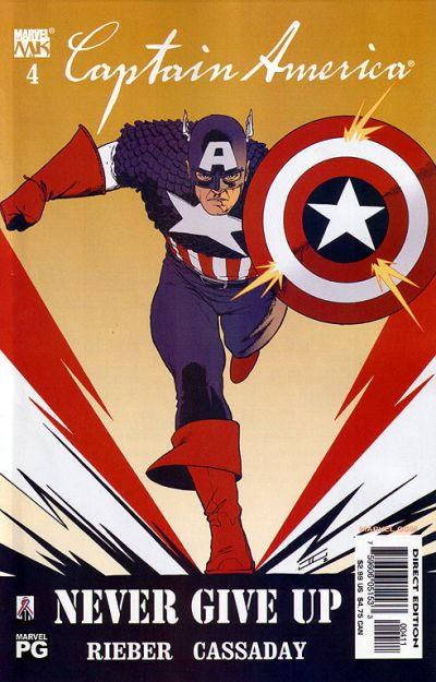Cover for Captain America (Marvel, 2002 series) #4 [Direct Edition]