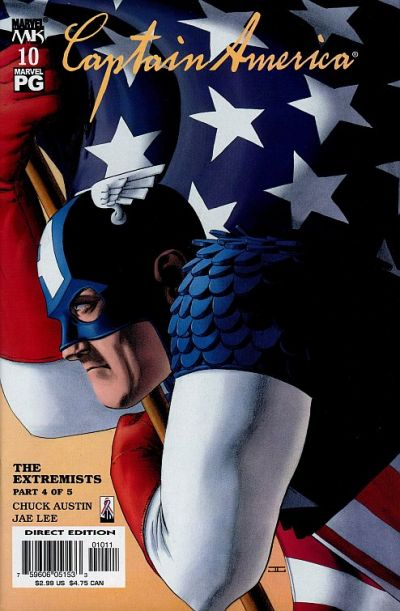 Cover for Captain America (Marvel, 2002 series) #10 [Direct Edition]