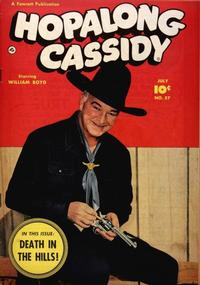 Cover for Hopalong Cassidy (Fawcett, 1946 series) #57