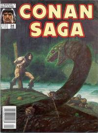 Cover Thumbnail for Conan Saga (Marvel, 1987 series) #34