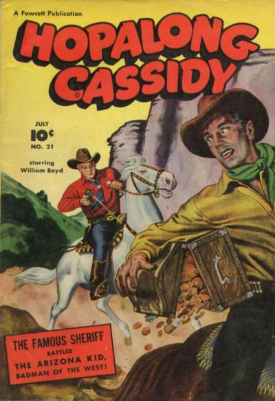 Cover for Hopalong Cassidy (Fawcett, 1946 series) #21