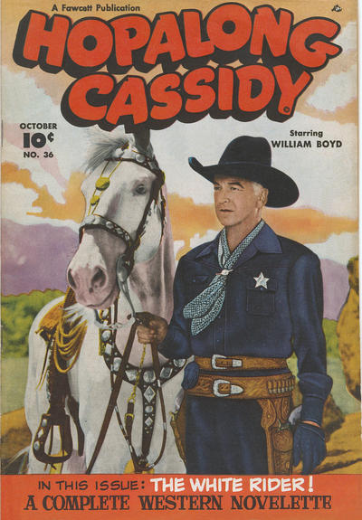 Cover for Hopalong Cassidy (Fawcett, 1946 series) #36