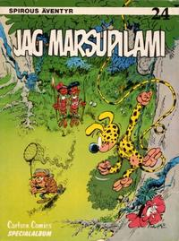 Cover Thumbnail for Spirous äventyr (Carlsen/if [SE], 1974 series) #24 - Jag Marsupilami