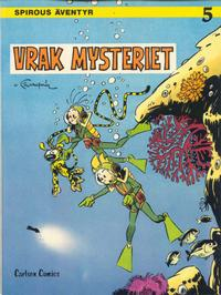 Cover Thumbnail for Spirous äventyr (Carlsen/if [SE], 1974 series) #5 - Vrakmysteriet [2:a upplagan, 1984]
