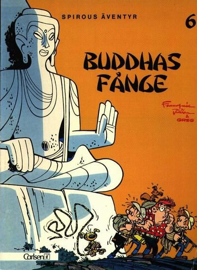 Cover for Spirous äventyr (1974 series) #6 - Buddhas fånge [2:a upplagan, 1985]