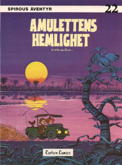 Cover for Spirous äventyr (Carlsen/if [SE], 1974 series) #22 - Amulettens hemlighet