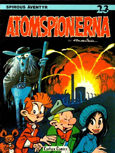 Cover for Spirous äventyr (1974 series) #23 - Atomspionerna