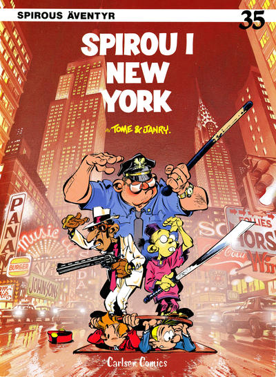 Cover for Spirous äventyr (Carlsen/if [SE], 1974 series) #35 - Spirou i New York