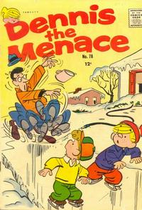 Cover for Dennis the Menace (Hallden; Fawcett, 1959 series) #78