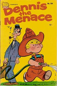 Cover for Dennis the Menace (Hallden; Fawcett, 1959 series) #104