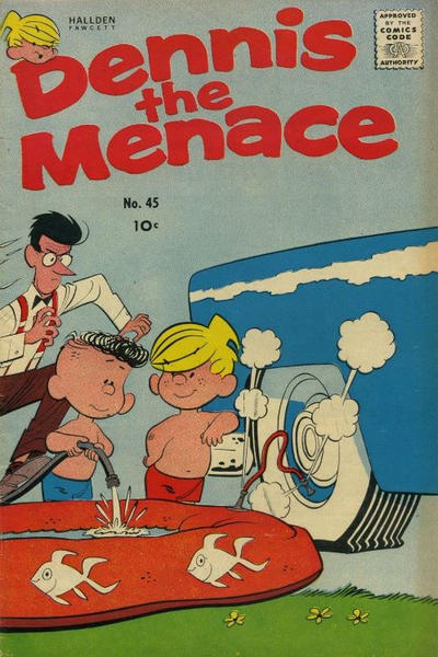 Cover for Dennis the Menace (Hallden; Fawcett, 1959 series) #45