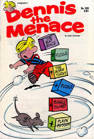Cover for Dennis the Menace (Hallden; Fawcett, 1959 series) #109